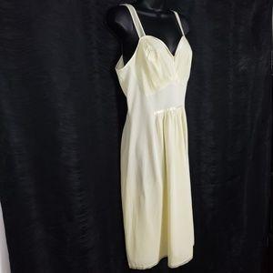 Artemis Nightgown Slip Women's 34 Yellow Nightie